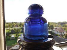 Vintage Insulator Blue Cobalt Glass USSR HEMAH 1967