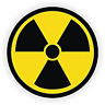 Radiation Symbol Hard Hat Sticker / Helmet Decal Label Lunch Tool Box