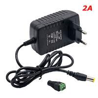 2A 12V 24W Transformateur Alimentation Adaptateur Secteur Pour Led SMD LED RGB F
