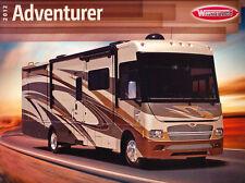 2012 Winnebago Adventurer Motorhome Camper Original Car Sales Brochure Catalog
