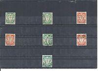 Danzig, Gdansk 1937, MiNrn.: 193-194, 272, 290-292 D, Rollenmarken, gestempelt o