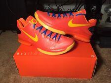 New Nike KD V Elite Size Team Orange Tour Yellow Total Orange Blue Size 10.5