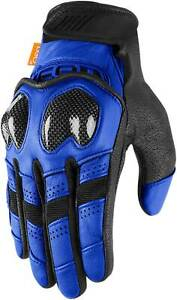 Icon Contra 2 Gloves - Motorcycle Street Bike Riding Leather Textile D30 Mens