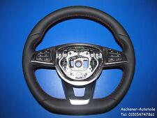 MERCEDES W205 W117 W176 W246 airbag multifunzione FORI PELLE VOLANTE ROSSOROSSO