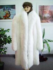 BRAND NEW WHITE FOX FUR COAT JACKET WOMAN WOMEN