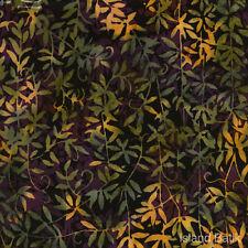 """ISLAND Batik naturale tessuto di cotone verde / viola 22 """"x18"""" Taglie Grandi Disponibili"""