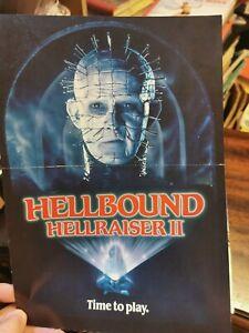 hellbound hellraiser 2 rare press synopsis sheet 1988