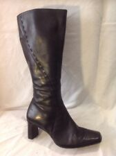 Dolcis Black Knee High Leather Boots Size 36