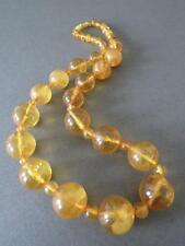 Vintage Natural Baltic Butterscotch Egg Yolk Honey Amber Round Bead Necklace