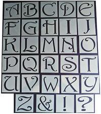 Shabby Chic vintage Alphabet letter stencil 65mm/54mm Upper case large wedding