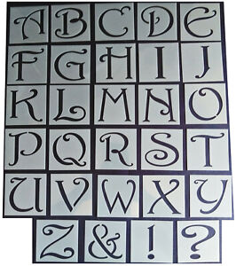 Shabby Chic vintage Alphabet letter stencil 65mm/54mm Upper case large wedding