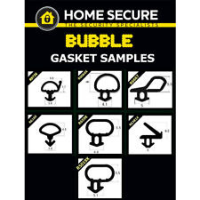 Bubble Gasket - Rubber Door And Window Seal Gasket Black uPVC Gasket Sample Pack