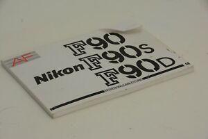 Buch Bedienungsanleitung, Nikon F90 F90s F90d