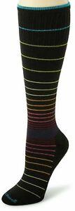 Sockwell Circulator Moderate Black Stripe Compression Socks M/L (8to 10.5)