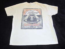 1969 Chevrolet Camaro 427 V8 T-Shirt Mens XL Off White Ivory Cream Pre-Owned