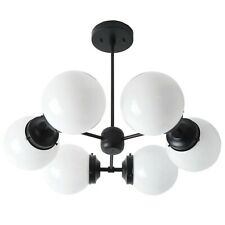 Glass Globe Chandelier Mid Century Modern Light Fixture Sputnik Ceiling Lamp
