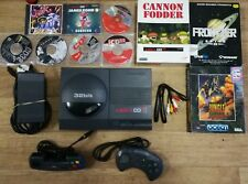 Commodore Amiga CD32 Console - 5 games frontier cannon fodder jungle plus demos