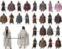 Women Kimono Mandala Print Casual Loose Long Cotton Cardigan Blouse Shawl Indian