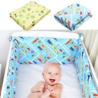 120x30cm Baby Crib Bumper Breathable Cotton Infant Toddler Bed Cot Protector