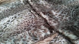 BNWT  Accessories  Khaki/Green/Black Animal Print  Satin/Chiffon Scarf