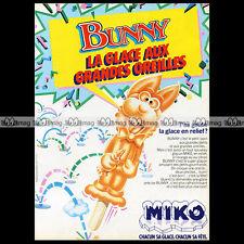 Glaces MIKO 'Bunny' 1983 - Pub / Publicité / Original Advert Ad #A867