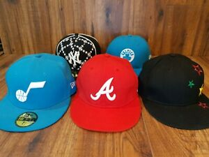 Variety Of Fitted Caps Atlanta Braves, Ny Yankees, Celtics Etc Size 7 1/4