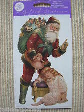 NIP Gifted Line Vtg Scrapbook Stickers Christmas Santa Claus Gifts John Grossman