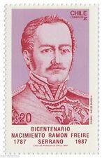 Chile 1987 #1275 Bicentenario Nacimiento Ramon Freire Serrano MNH