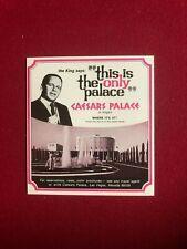 "1969, Frank Sinatra, ""Original Las Vegas Ad"" (Caesars) Scarce / Vintage"