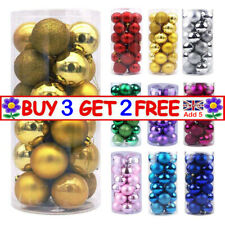 Christmas Tree Glitter Baubles Ball Decoration Party Wedding Ornament 24Pcs/Pack