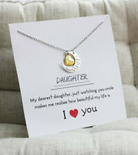 You Always Bring Smile To My Face Woman Pendant Daughter Love You Necklace