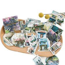 45 PCs/lot Label Scrapbooking Cartoon Travel Landscape Paper Stickers