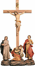 CROCIFISSIONE - CRUCIFiXION GROUP In Legno Scolpito..WOODCARVING CM. 77X40