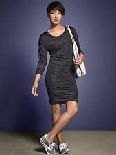 LN AthletaTulip Long Sleeve Dress Black Heather SZ XXS