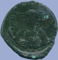 Basil II and Constantine VIII Æ Class A2Anonymous Follis 976-1025 ANC13633.16