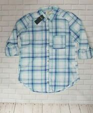 Hollister Women's Shirt Cotton Blue Plaid - Small S - RRP £29