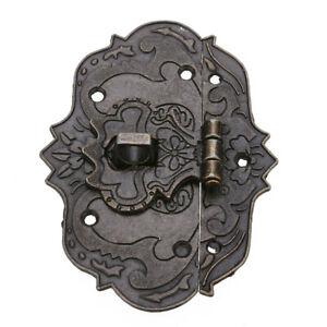 Jewelry Box Antique Furniture Buckle Hasp Lock Latch Multipurpose Hardware Decor