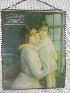 Antique ADVERTISING FLUE COVER Mother Daughter WEST SALEM OHIO Plumbing Heating