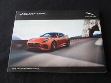 2017 Jaguar F-Type Coupe Convertible Brochure  Premium S V8 R SVR Sales Catalog
