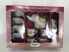 Roehler Collection Dolls Tea Set Circus Zoo (Puppen Porzellan Service) 12 Pcs