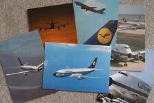 Six Lufthansa Classic Aircraft Postcards - A300 310 DC-10 B727 737 747 King Air