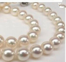 """Akoya Shell Pearl Necklace 18"""" Genuine Aaa 8mm White south sea"""