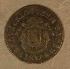 1817 German State Baden 1/2 Kreuzer Detailed Coin     ** FREE U.S. SHIPPING **