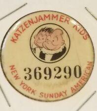 Rare Katzenjammer Kids New York Sunday American pin 1930s number 369290