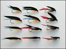 MACELLAIO trota pesca Mosche, confezione da 12 Kingfisher e oro macellai, taglia 6/8