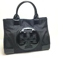 Tory Burch Nylon,Patent Leather Tote Bag Black.  A802
