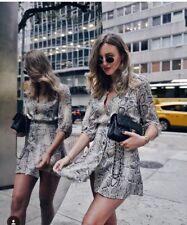 Zara Snake Skin Print Dress Size S BNWT