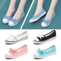 New Women Loafers Flat Shoes Canvas Boat Breathable Sneakers Casual Slip On