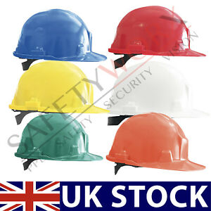 Hard Hat Safety Helmet Head Protective Bump Cap Vented 6 Point Harness Builders