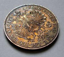 1 Florin 1879 Austria Empire KM#2222 Silver Coin ** UNC Toned $ Free Shipping